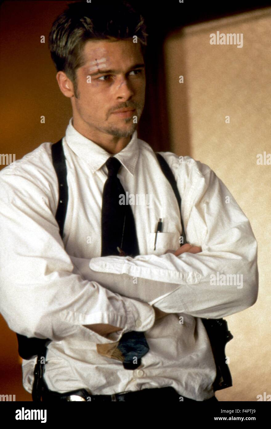 Brad Pitt / Seven / 1995 directed by David Fincher [New Line cinema] - Stock Image