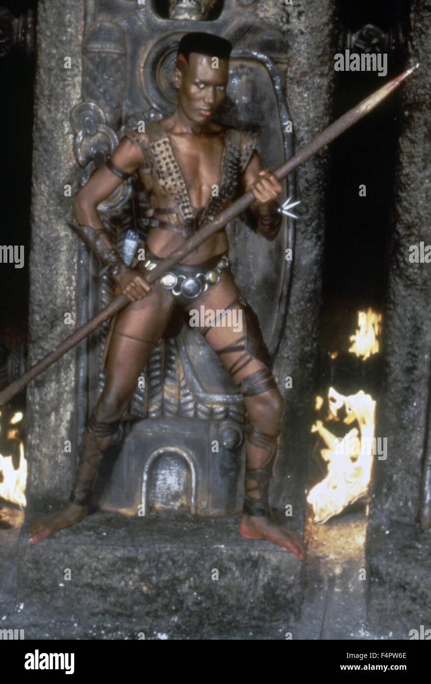 Grace Jones / Conan the Destroyer / 1984 directed by Richard Fleischer  [Dino De Laurentis / Universal Pi] - Stock Image