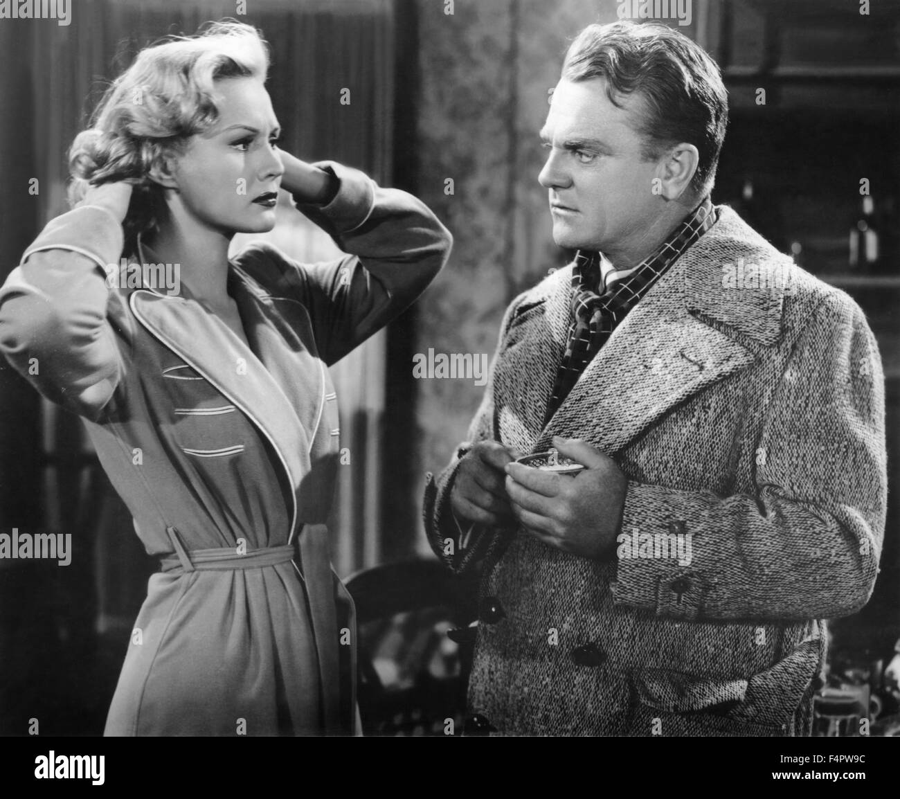 Virginia Mayo and James Cagney / White Heat / 1949 directed by Raoul Walsh [Warner Bros. Pictures] - Stock Image