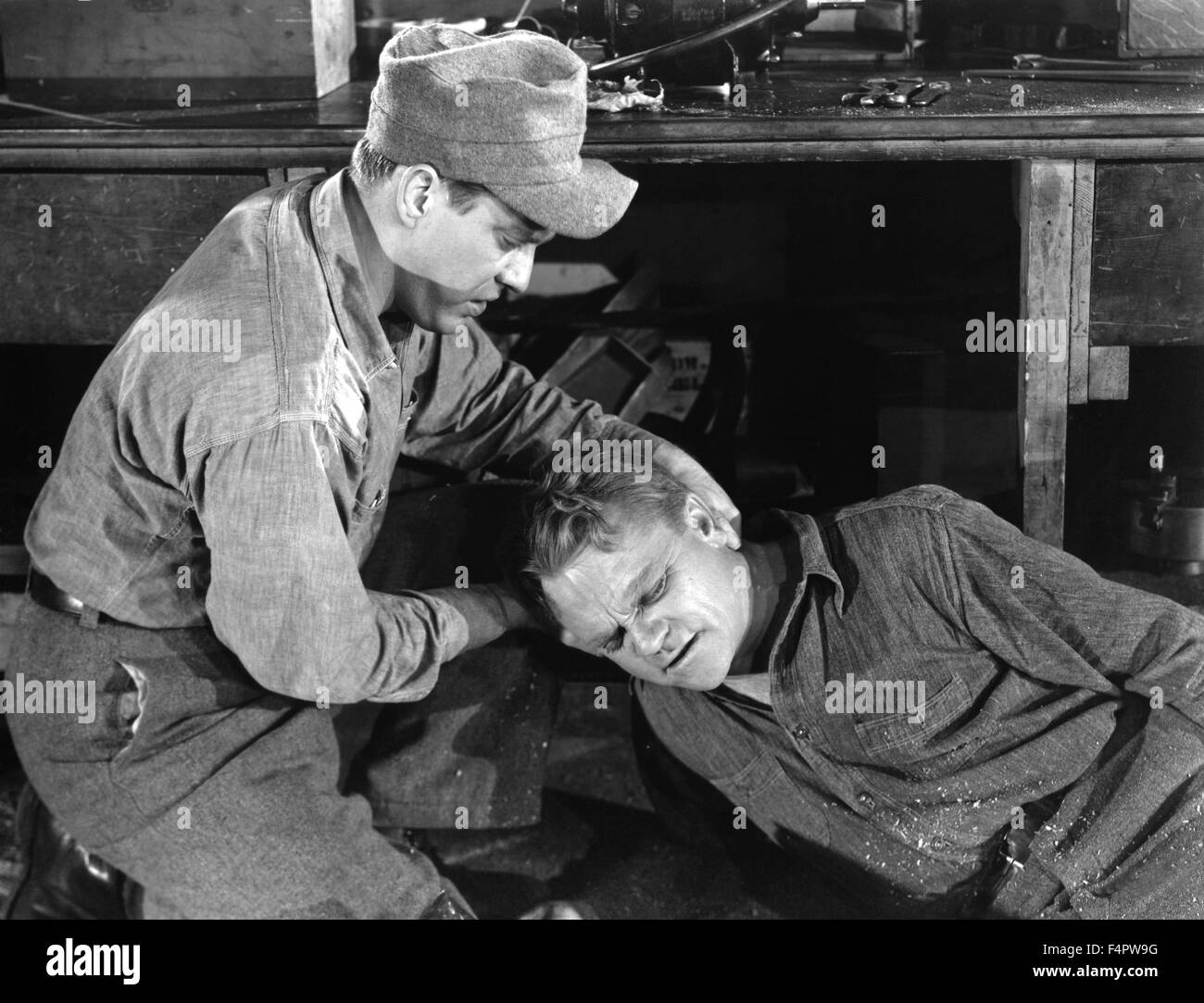 Edmond O'brien and James Cagney / White Heat / 1949 directed by Raoul Walsh [Warner Bros. Pictures] - Stock Image