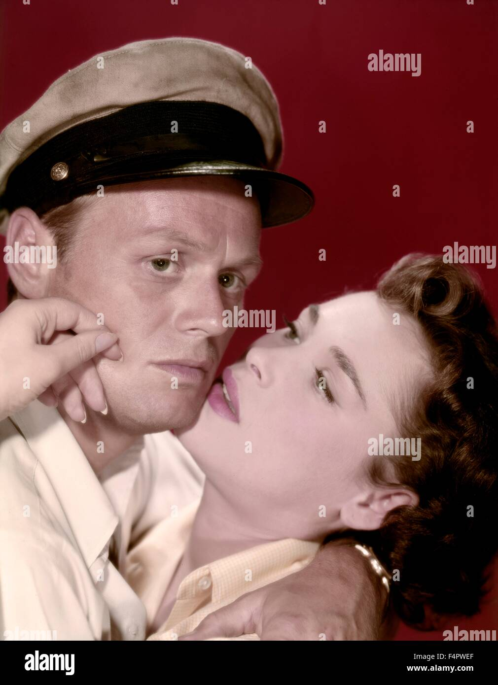 Richard Widmark and Bella Darvi / Hell And High Water  / 1954 directed by  Samuel Fuller  [Twentieth Century Fox - Stock Image
