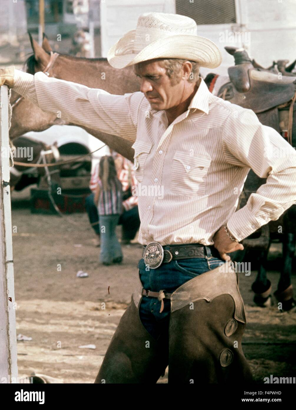 Steve McQueen / Junior Bonner / 1972 directed by Sam Peckinpah [ABC Pictures Corporation / Ciner] - Stock Image