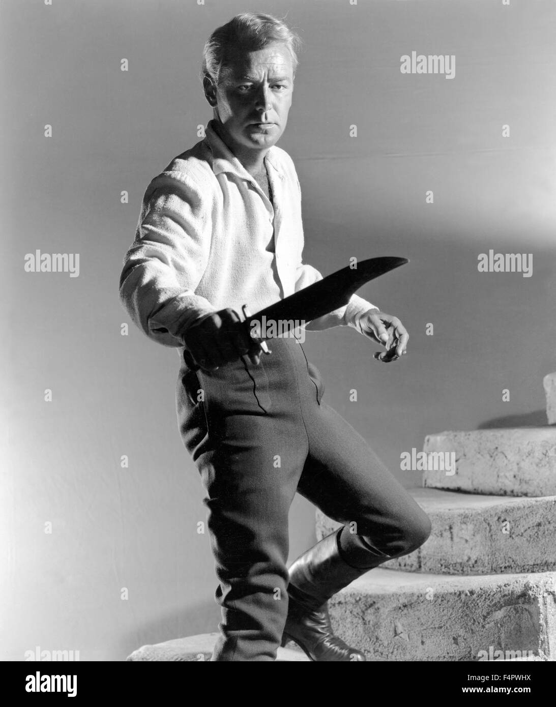 Alan Ladd / The Iron Mistress / 1952 directed by Gordon Douglas [Warner Bros. Pictures] - Stock Image