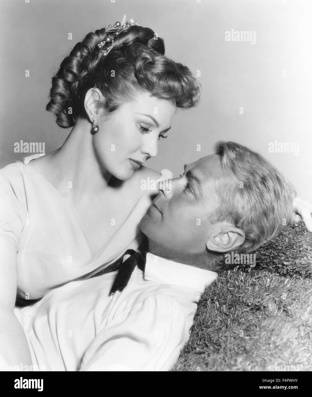Virginia Mayo and Alan Ladd / The Iron Mistress / 1952 directed by Gordon Douglas [Warner Bros. Pictures] - Stock Image