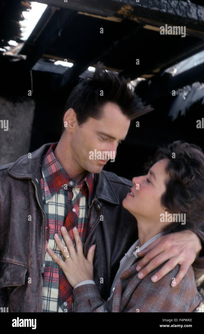 Sam Shepard and Barbara Hershey / The Right Stuff / 1983 directed by Philip Kaufman [The Ladd Company / Warner Bros.] - Stock Image