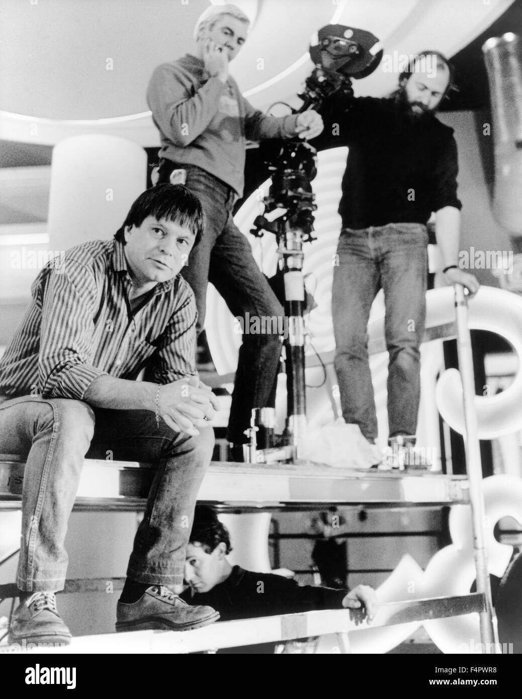 On the set, Terry Gilliam / Brazil / 1985 directed by Terry Gilliam [Embassy International Pictures] - Stock Image