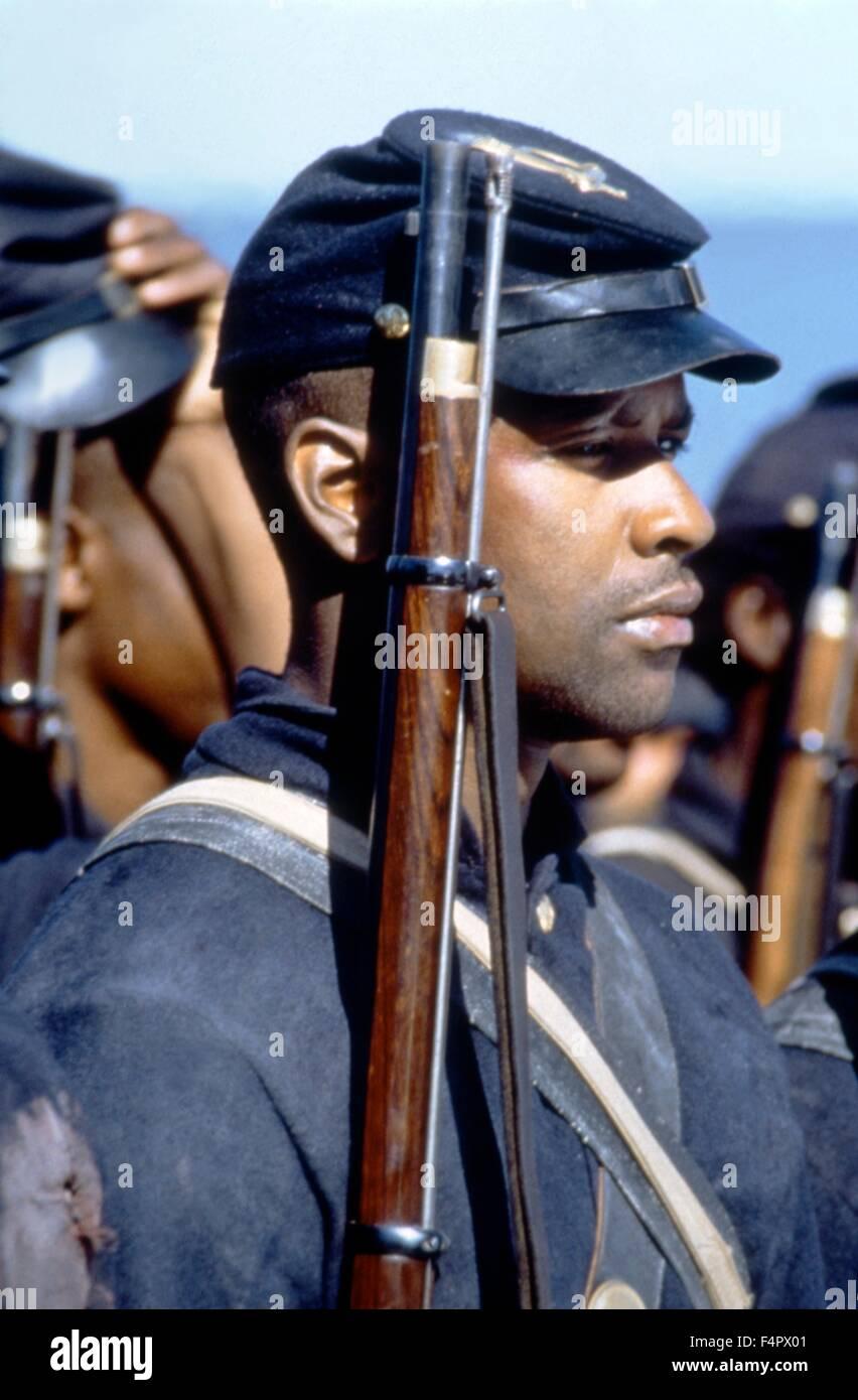 Denzel Washington / Glory / 1989 directed by Edward Zwick [TriStar Pictures] - Stock Image