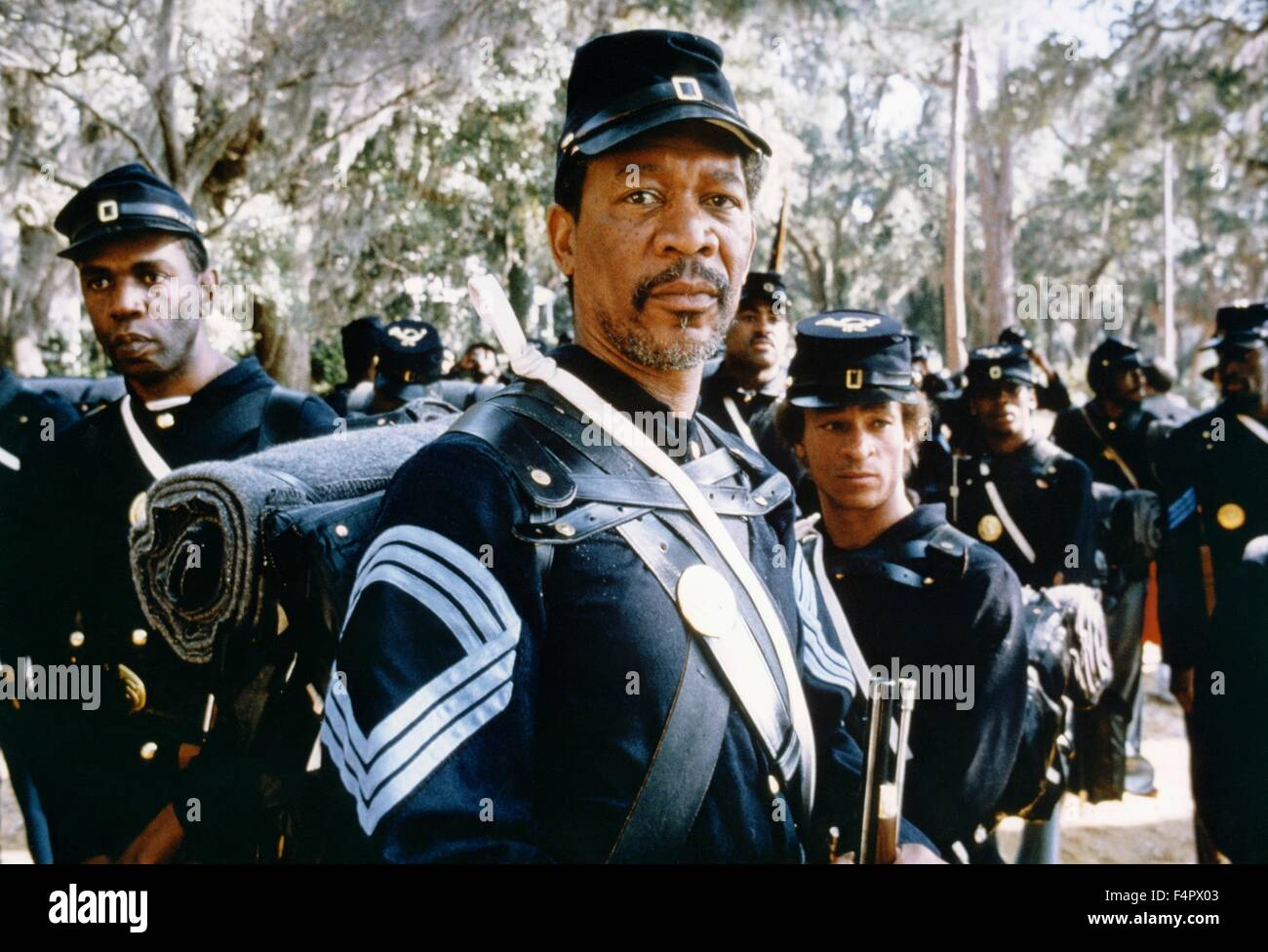Morgan Freeman / Glory / 1989 directed by Edward Zwick [TriStar Pictures] - Stock Image