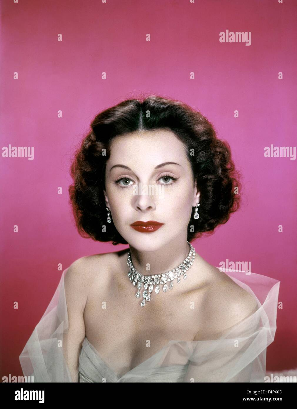 Hedy Lamarr in the 40's. - Stock Image