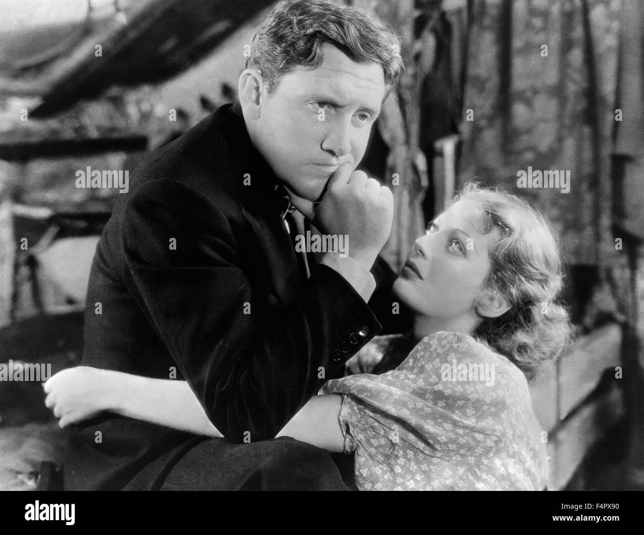 Spencer Tracy and Loretta Young / Man's Castle / 1933 / directed by Frank Borzage / [Columbia Pictures] - Stock Image