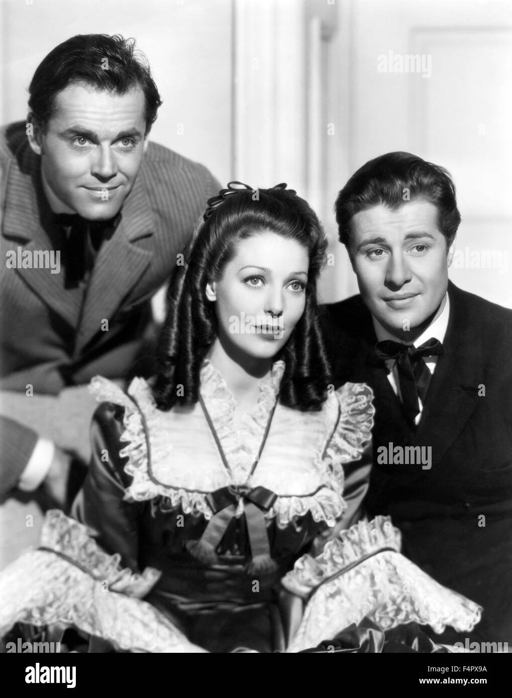 Henry Fonda, Loretta Young and Don Ameche / The Story Of Alexander Bell / 1939 / directed by Irving Cummings / [Twentieth - Stock Image