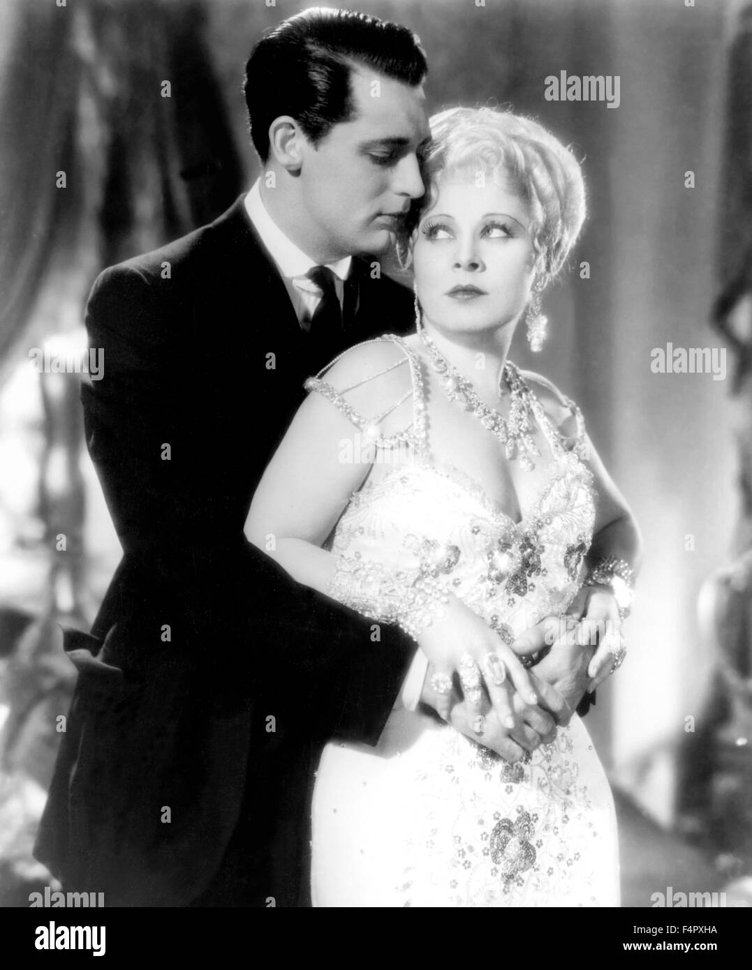 Cary Grant and Mae West / She Done Him Wrong / 1932 / directed by Lowell Sherman / [Paramount Pictures] - Stock Image