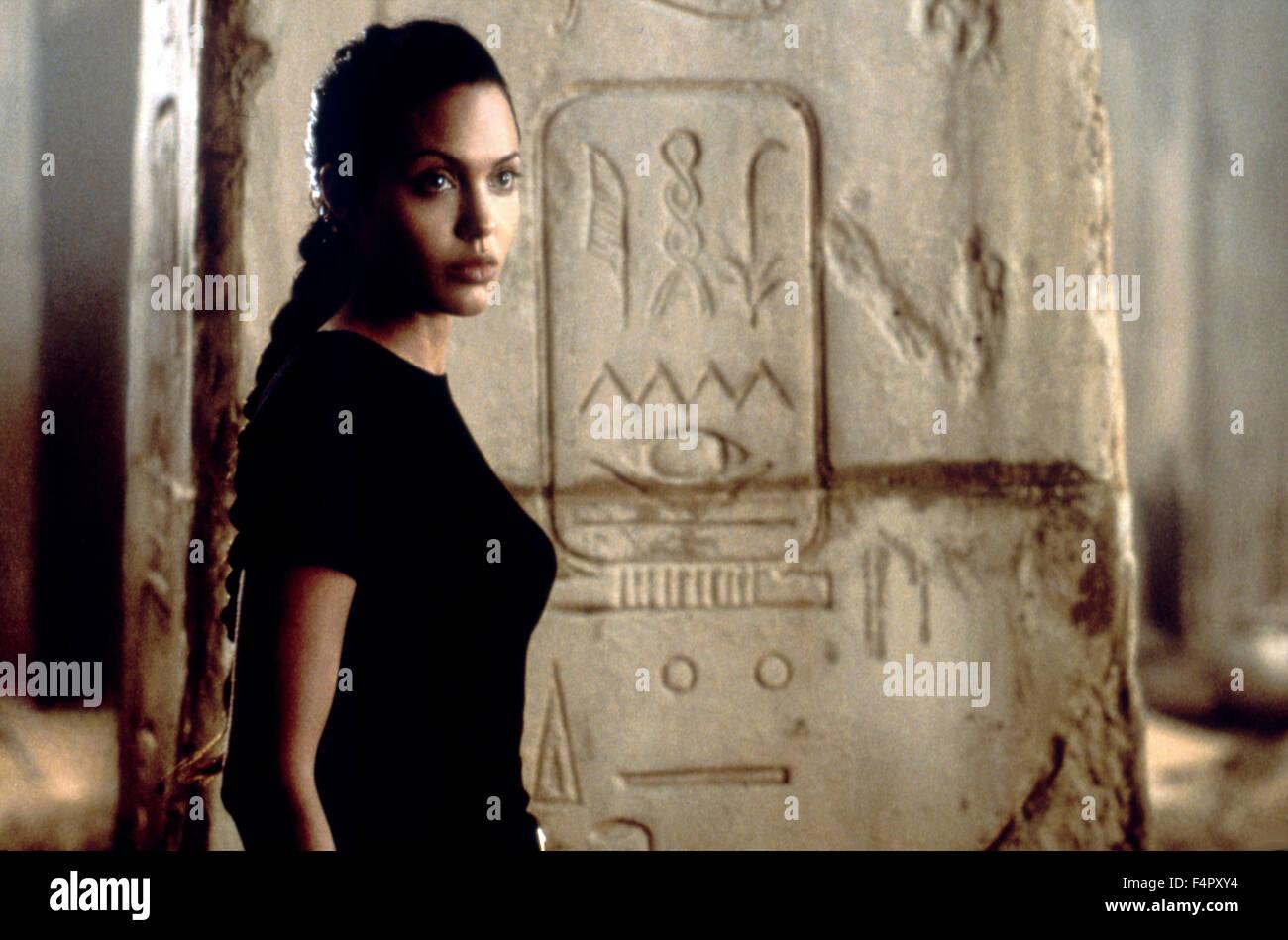 Angelina Jolie ,Lara Croft: Tomb Raider, directed by  Simon West   (2001) - Stock Image