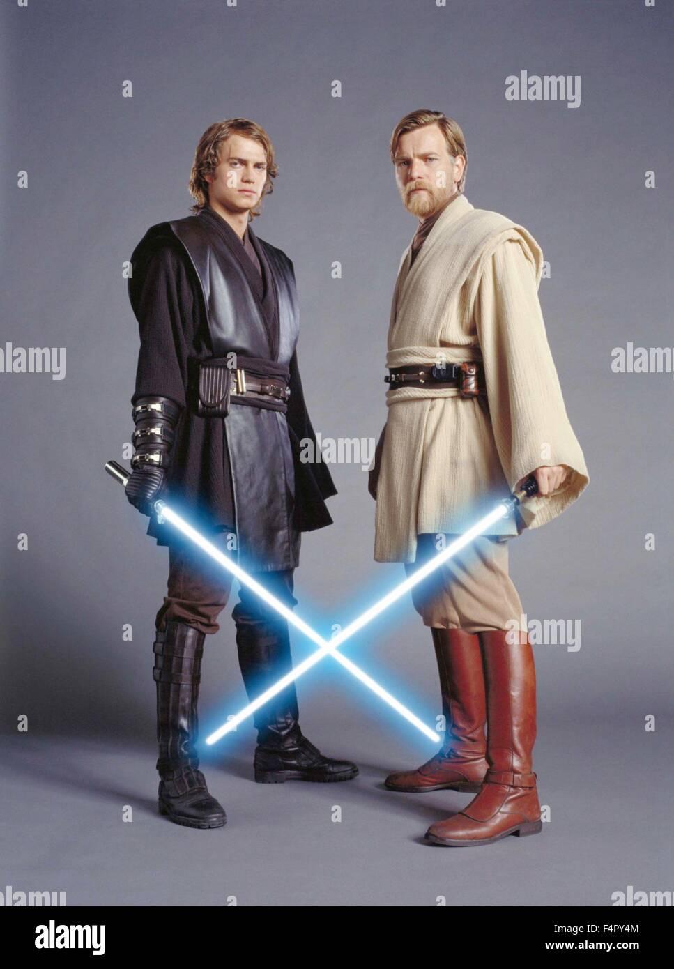 Ewan Mcgregor And Hayden Christensen Star Wars Episode Iii Revenge Stock Photo Alamy