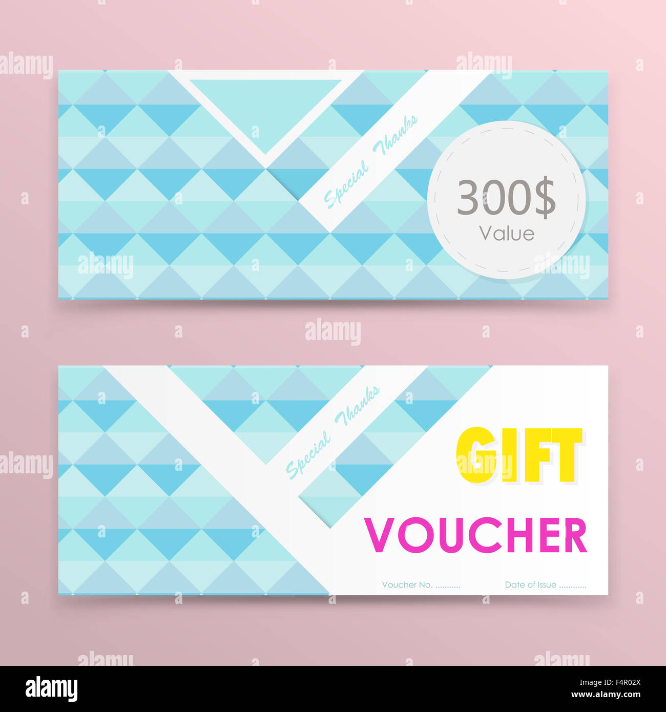 Gift Voucher Background Or Certificate Coupon Template With Clean