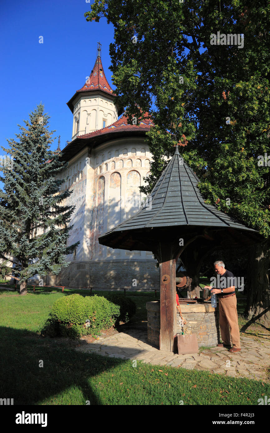 Mitropoliei, Suceava, Romania, Monastery of St. Gheorghe, Biserica Sf. Gheorghe Mirauiti, in Suceava, UNESCO World - Stock Image