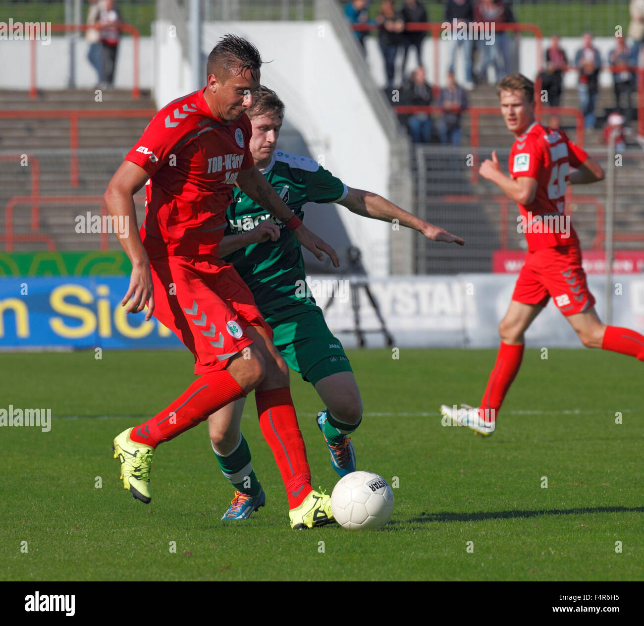 sports, football, Regional League West, 2015/2016, Rot Weiss Oberhausen versus SV Roedinghausen 2:0, Stadium Niederrhein Stock Photo