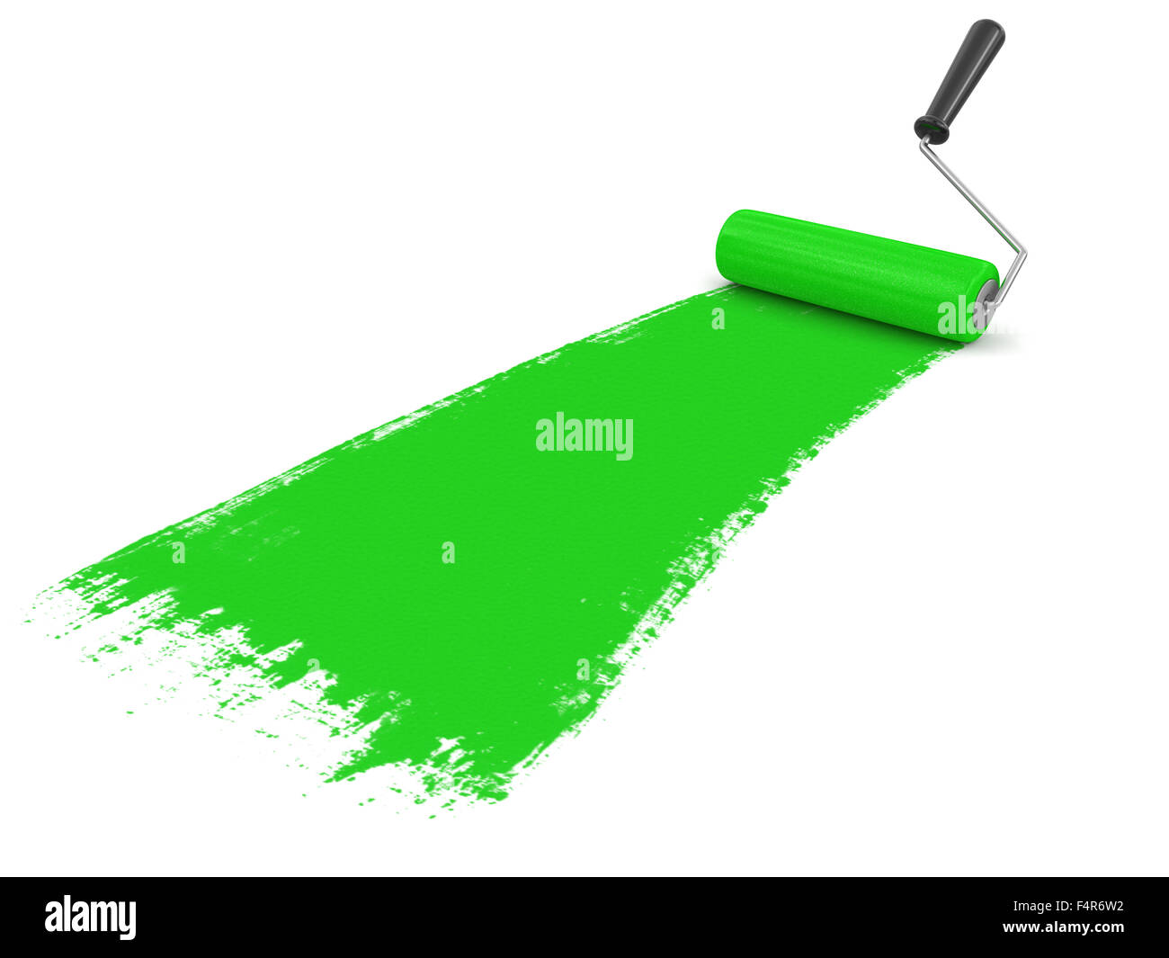 Paint roller (clipping path included) - Stock Image