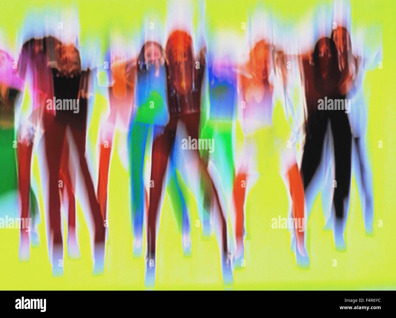 Dance, concepts, blurs, movement, blur, art, skill, women, - Stock Image