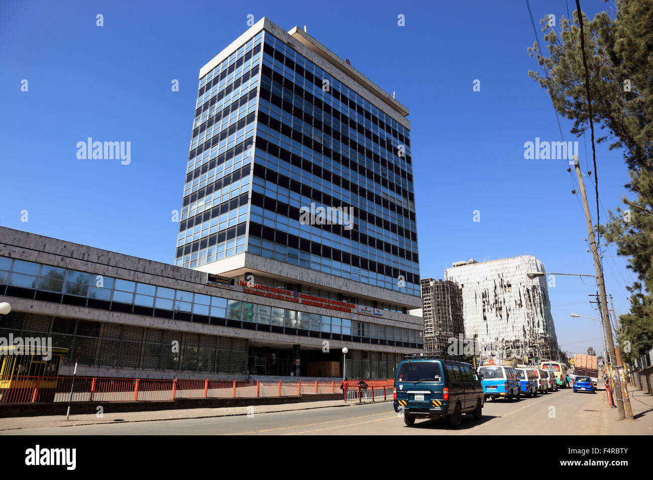 Addis Ababa, in the city center, modern high rise building