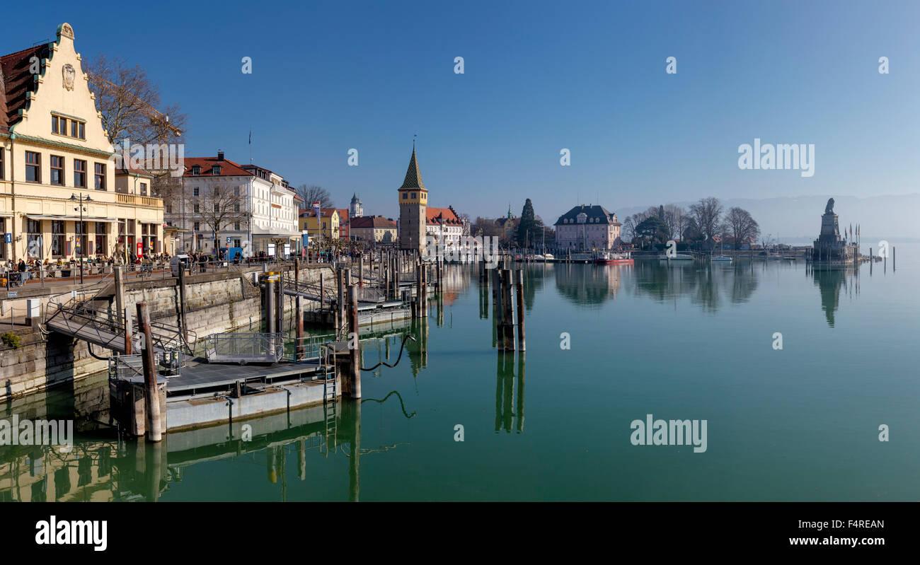 Germany Europe Bayern Village Water Winter Lake Mangturm