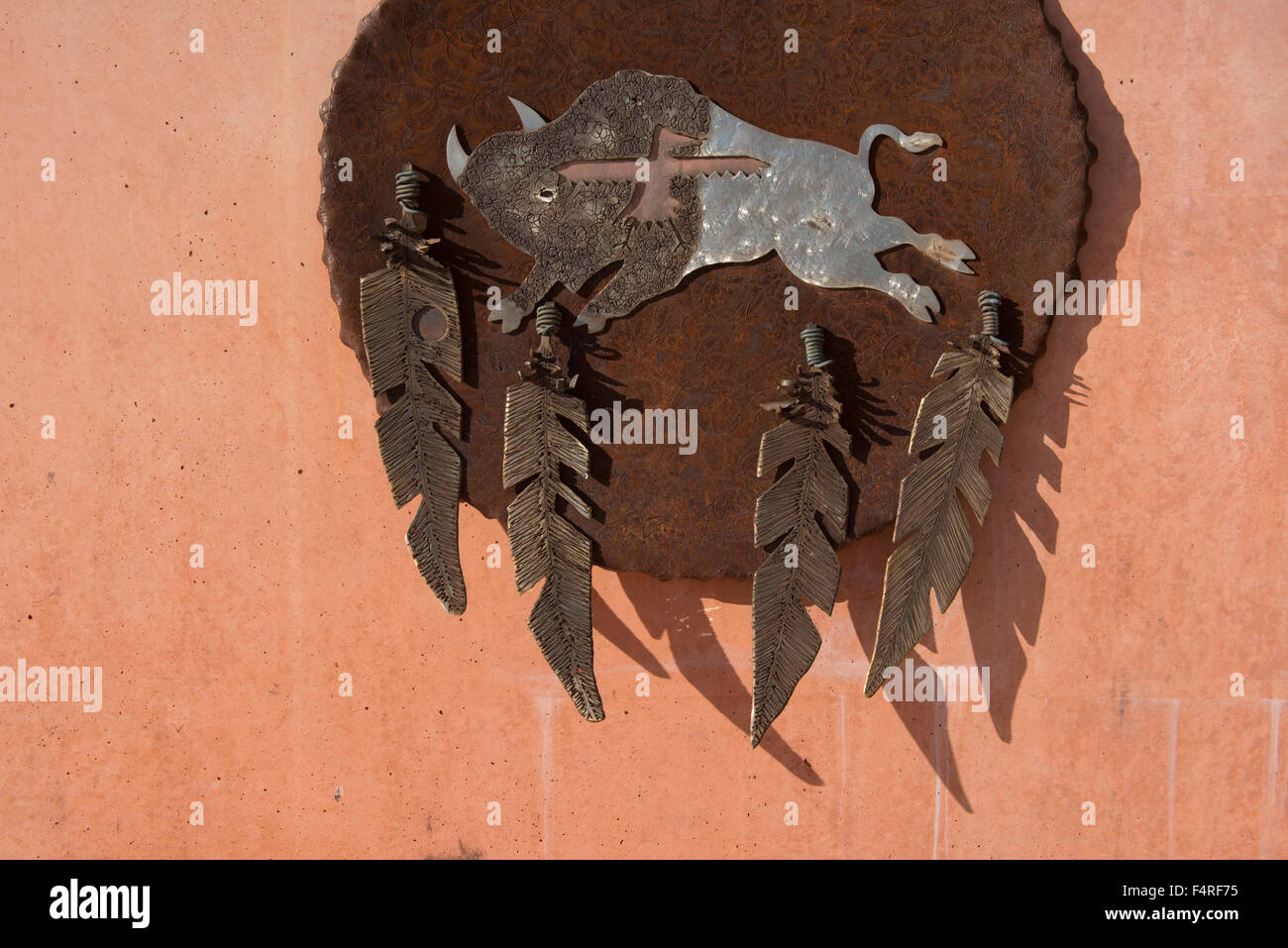 Absalooke Veterans Park, Crow Agency, Crow Indian Reservation, Montana, USA - Stock Image