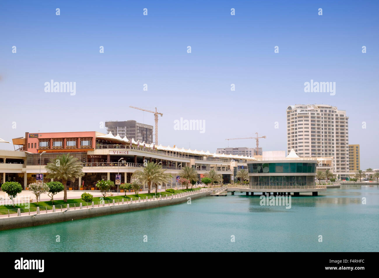 The Lagoon at new Amwaj Island residential property development in Kingdom of Bahrain - Stock Image