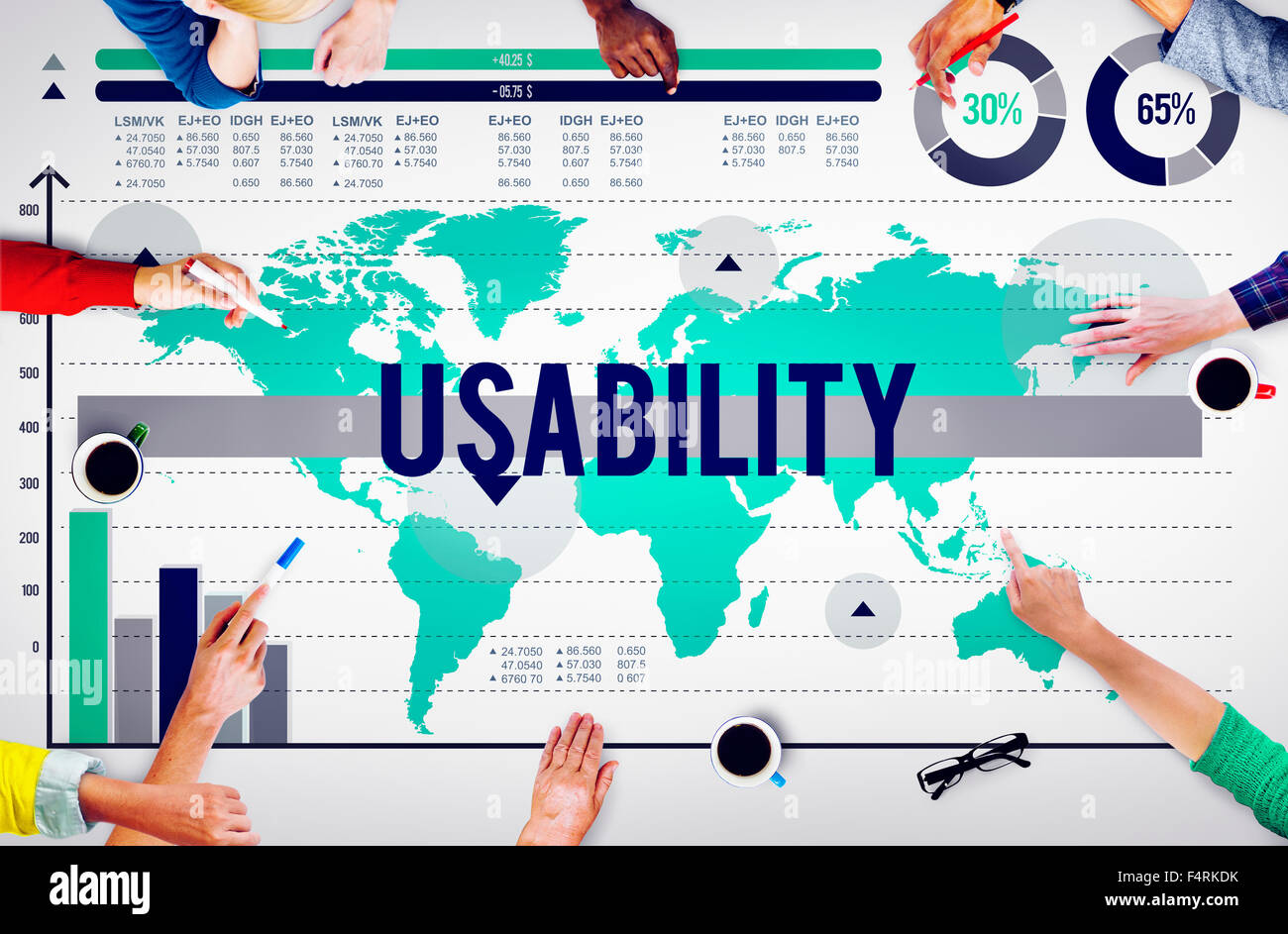 Usability Usefulness Quality Accessibility Efficiency Concept - Stock Image