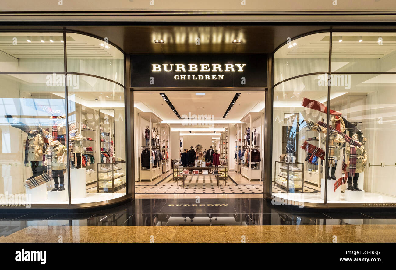 Great View Of Burberry Children Store In Mall Of The Emirates In Dubai United  Arab Emirates