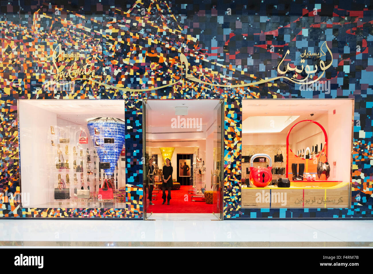 cb2553d440ccbe view of Christian Louboutin fashion boutique inside Dubai Mall in United  Arab Emirates - Stock Image
