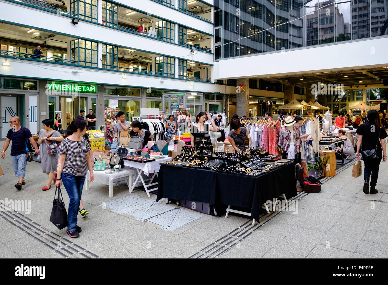 The Aberdeen Courtyard and Market place at PMQ in Staunton Street is a new creative centre for pop up shops and - Stock Image