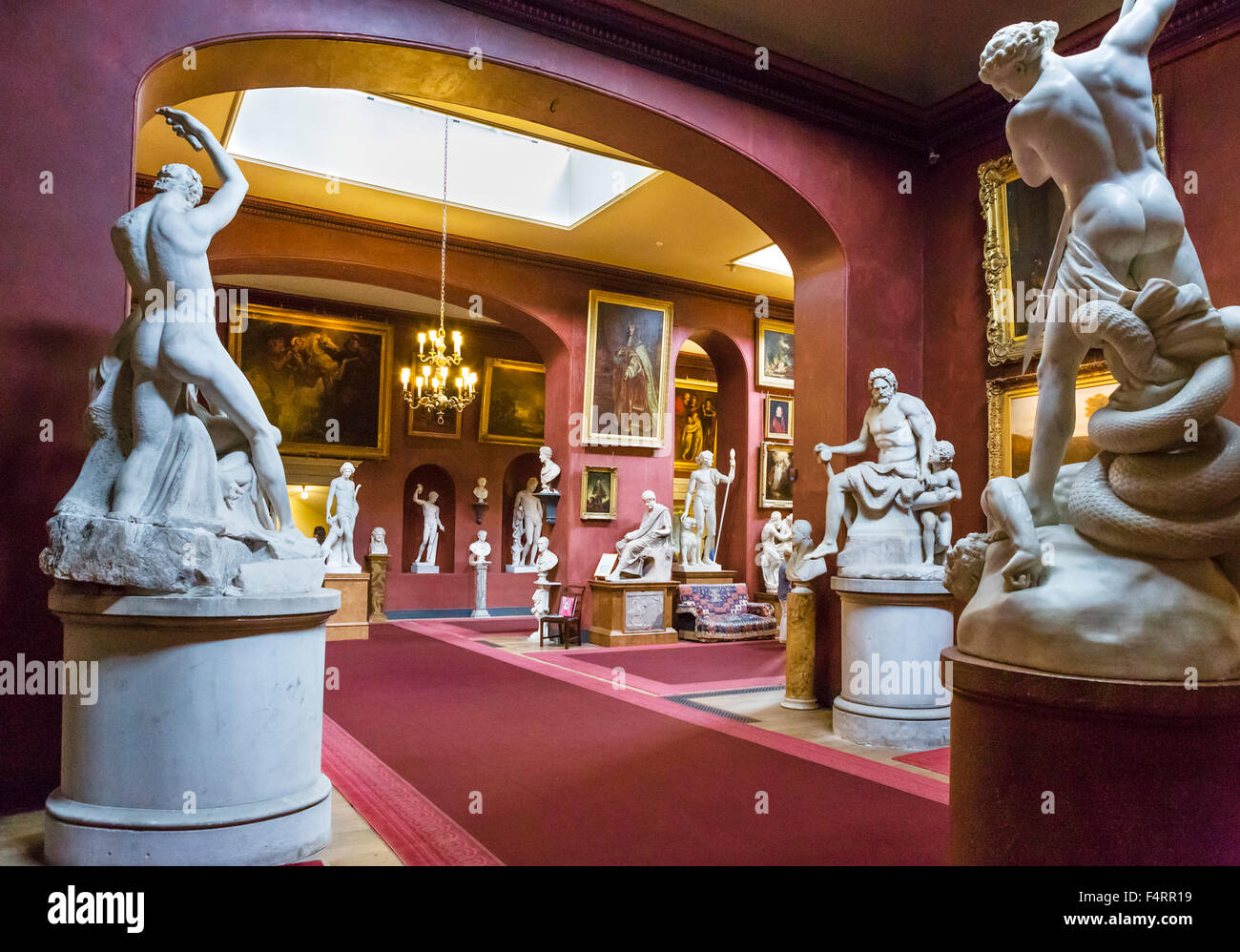 The North Gallery at Petworth House, West Sussex, England, UK - Stock Image