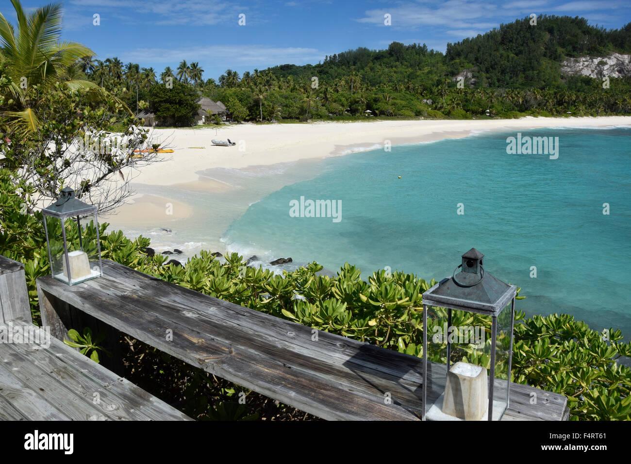 Sea Water North Island Seychelles Africa Beach
