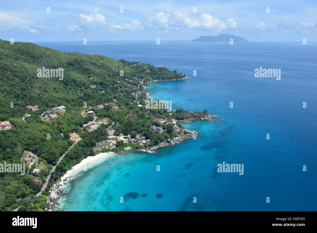 Aerial, Mahe, Seychelles, Africa, - Stock Image