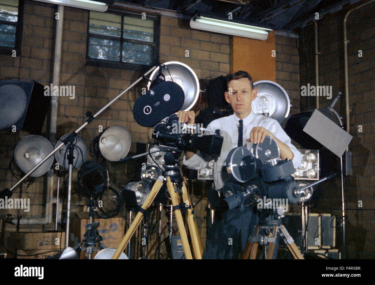 Photographer Ed Westcott, the first AEC government photographer in Oak Ridge. 1944. The town of Oak Ridge was established - Stock Image