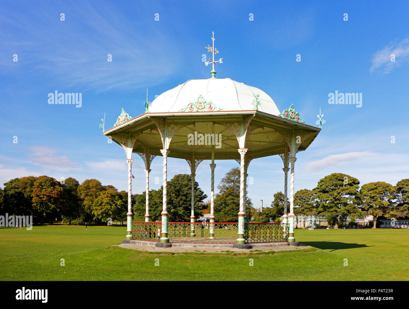 A view of the bandstand in Duthie Park, Aberdeen, Aberdeenshire, Scotland, United Kingdom. - Stock Image