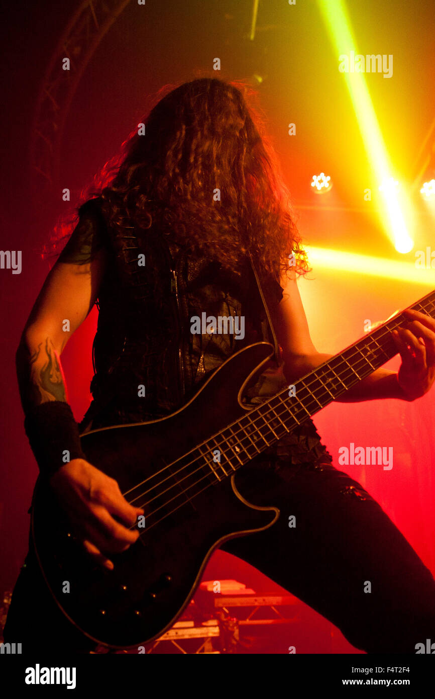 Glasgow, Scotland, UK. 21st Oct, 2015. Music gig. Artist: Cradle Of Filth from Suffolk they play black metal, goth - Stock Image