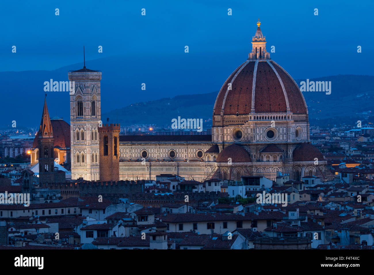 Europe, Italy, Tuscany, Toscana, Firence, Florence, Cathedral of Saint Mary of the Flower Cattedrale di Santa Maria - Stock Image