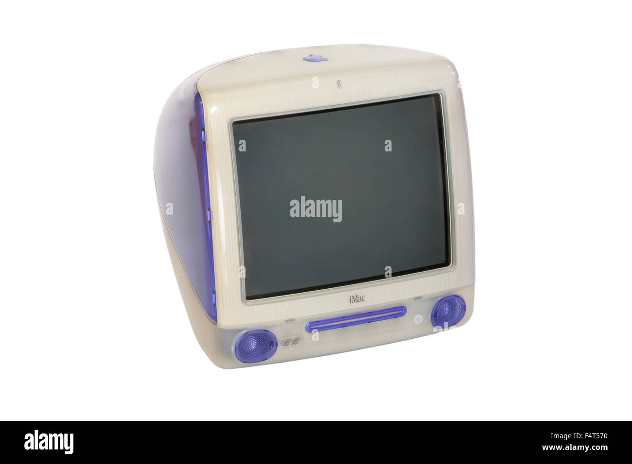Original / old Apple iMac personal desk top computer Power PC G3 model with CRT type screen, late 1990's model - Stock Image