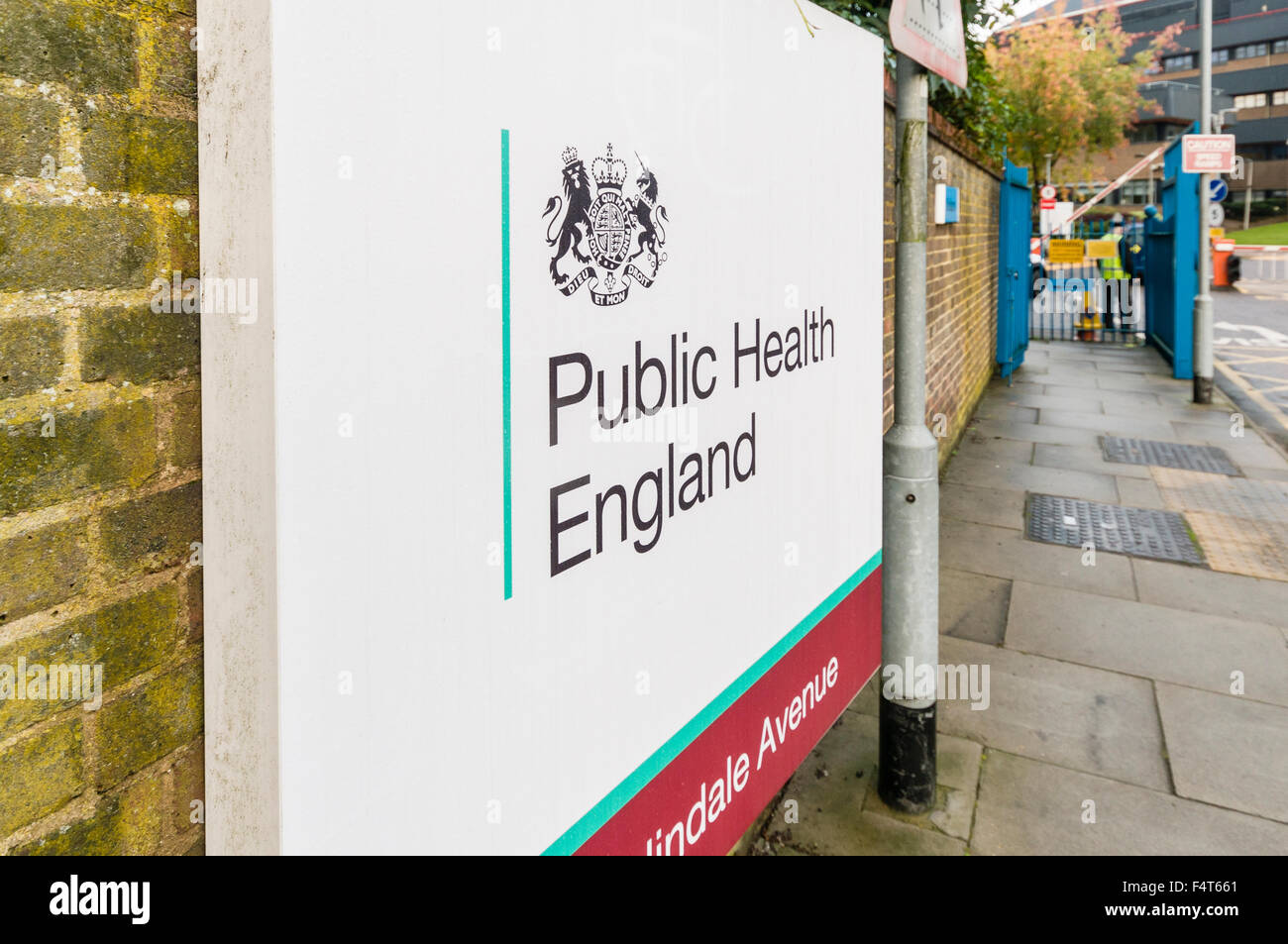 Public Health England sign outside one of their offices. - Stock Image