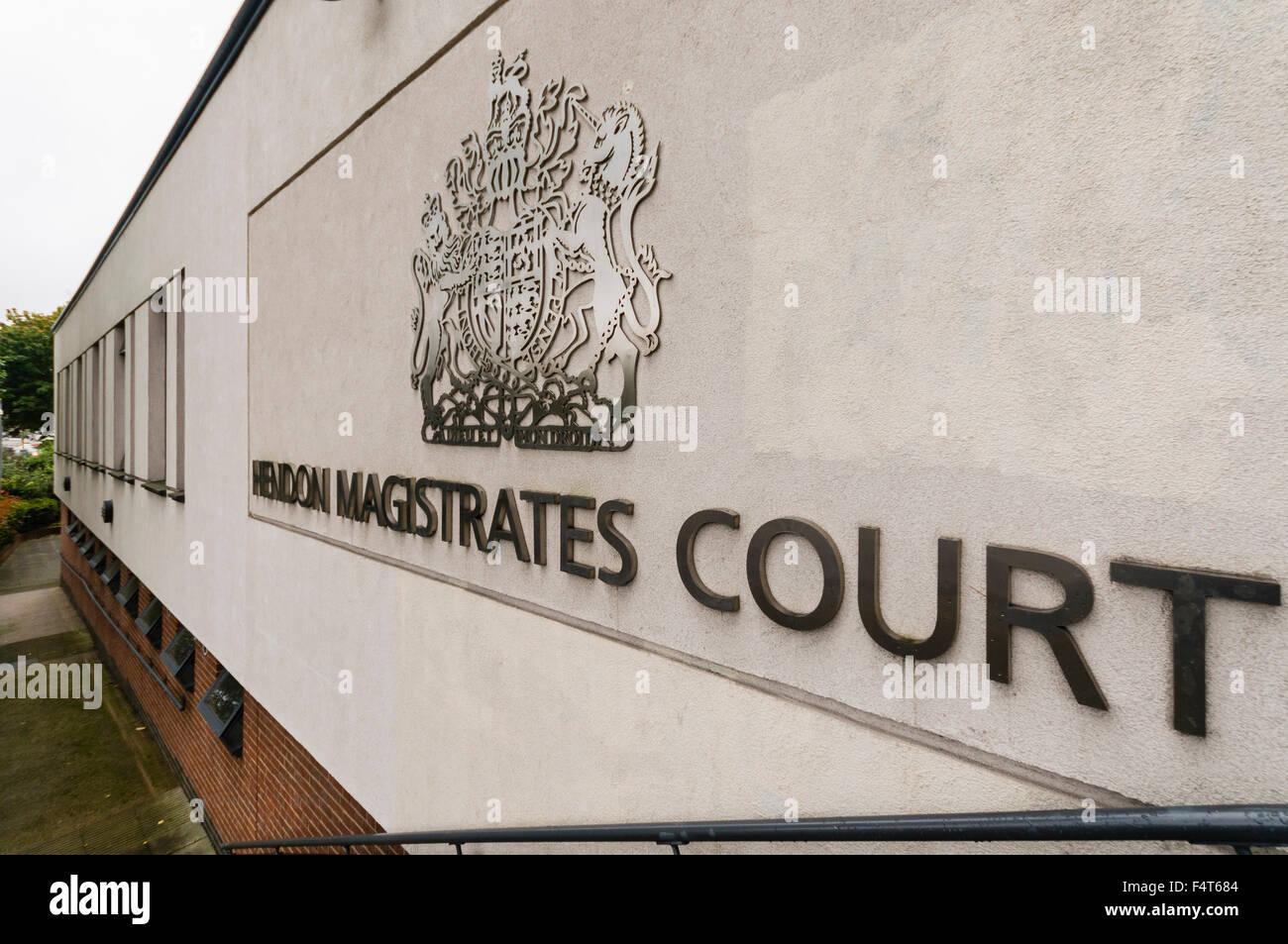 Hendon Magistrates Court, London NW9 - Stock Image