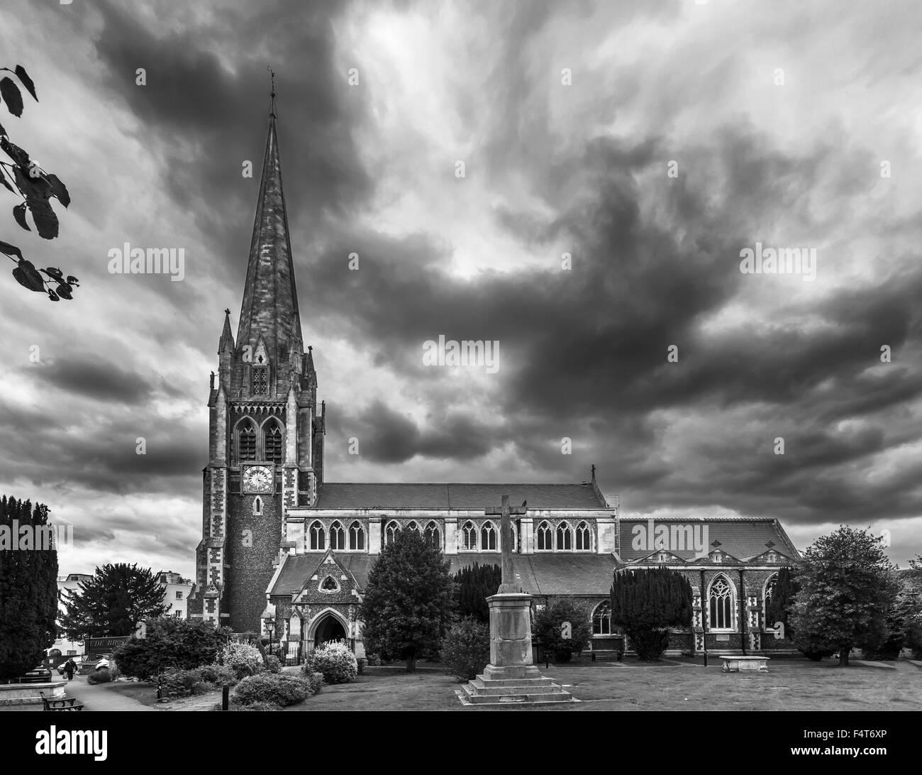 St Martin's Church in Dorking, Surrey UK - Stock Image