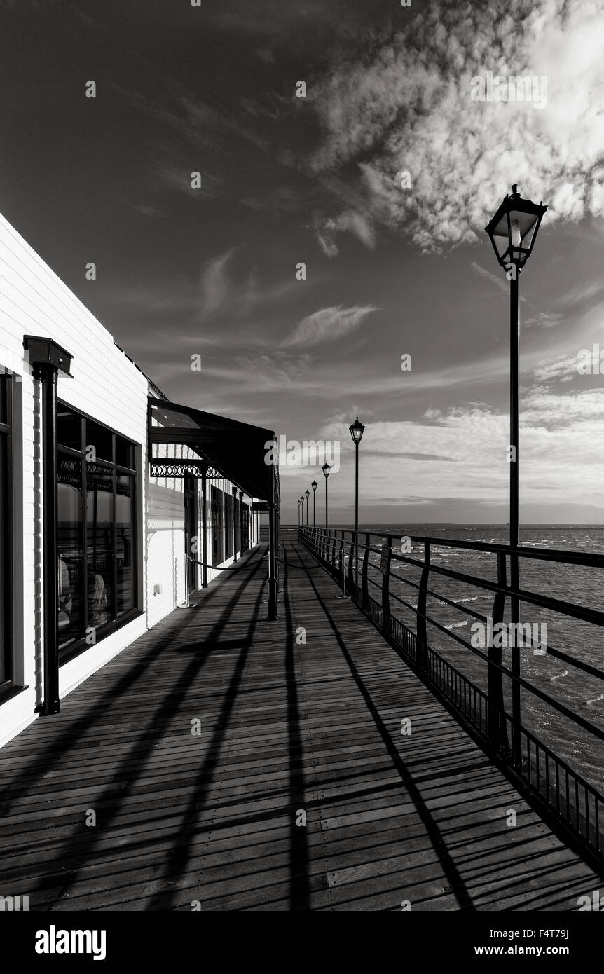 The right side of the Cleethorpes pier. - Stock Image