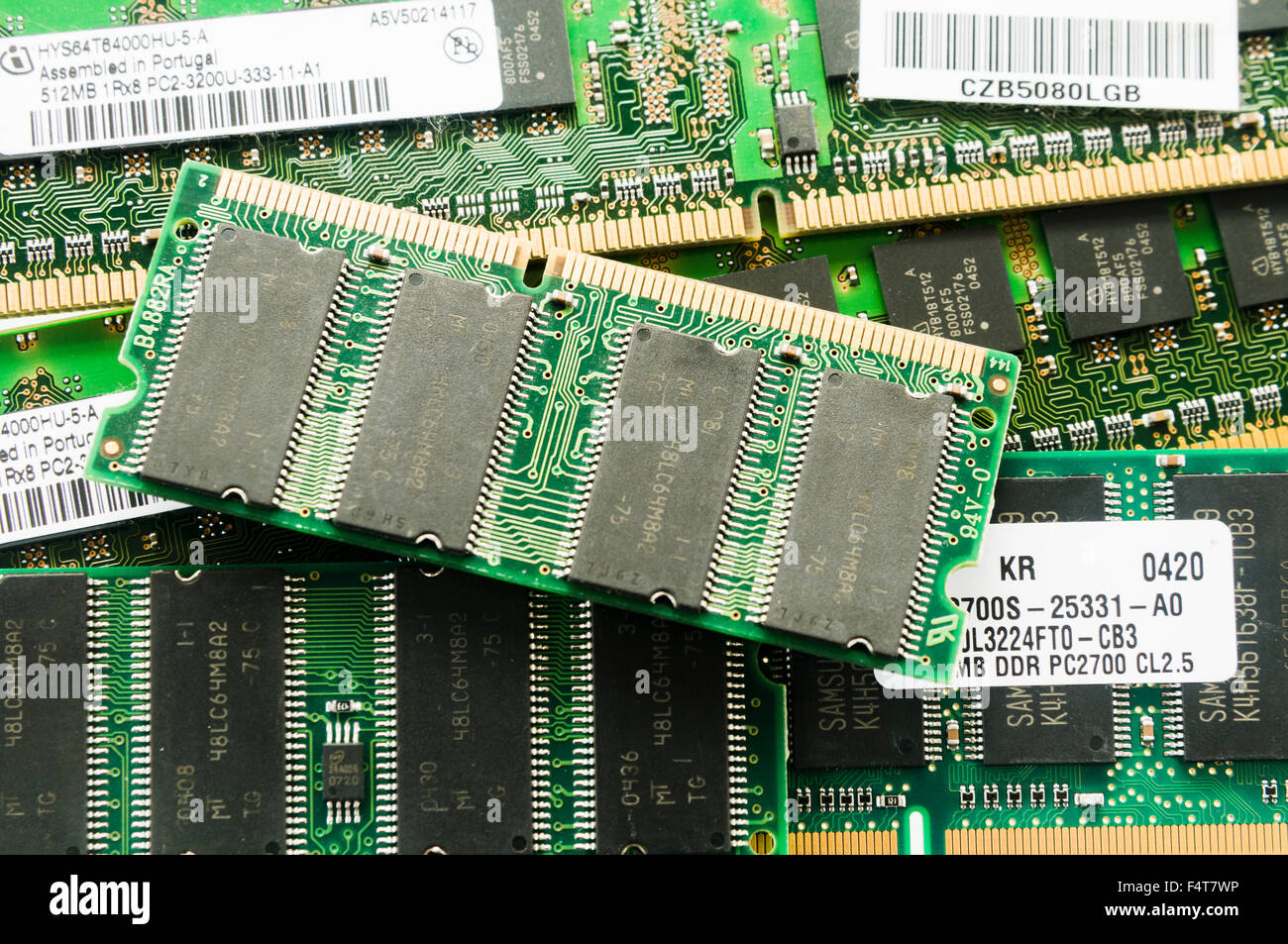 Various computer memory cards. - Stock Image