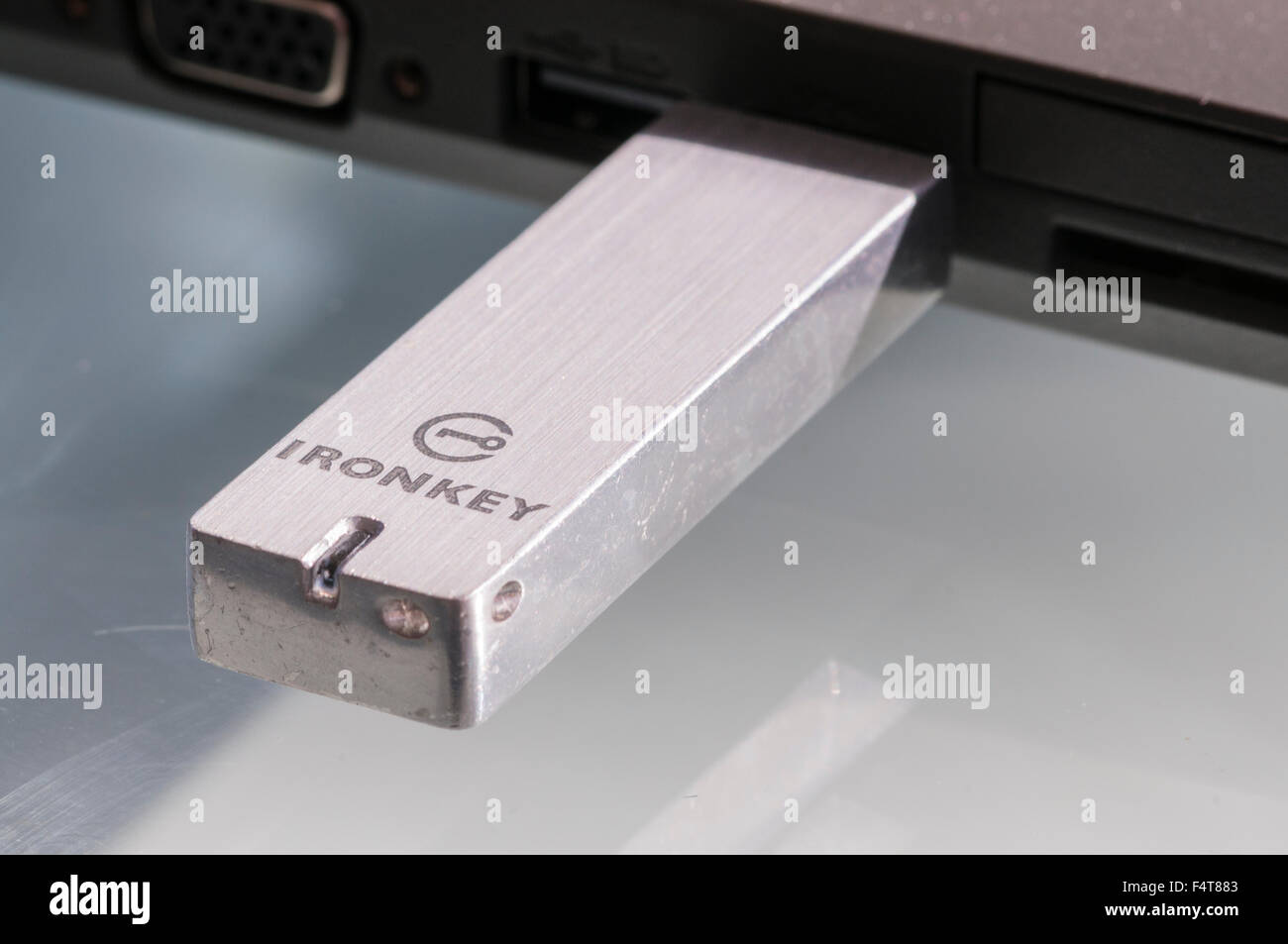 Ironkey secure USB memory stick thumbdrive - Stock Image