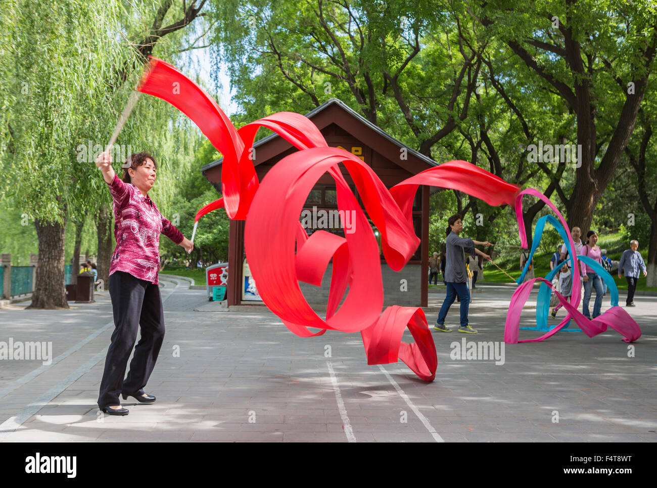 China, Beijing, Peking, City, gymnastics - Stock Image
