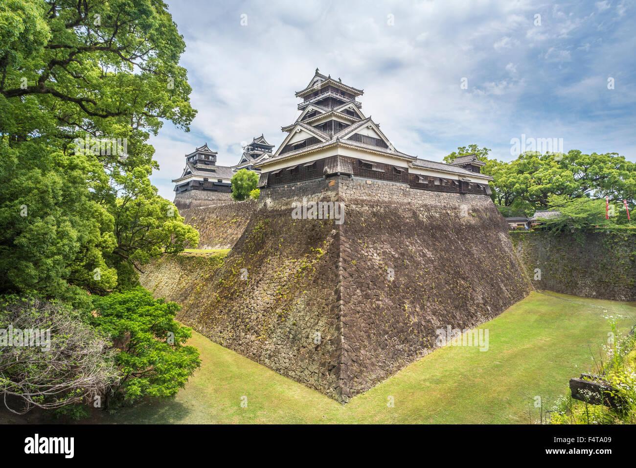 Japan, Kyushu Island, Kumamoto City, Kumamoto Castle - Stock Image