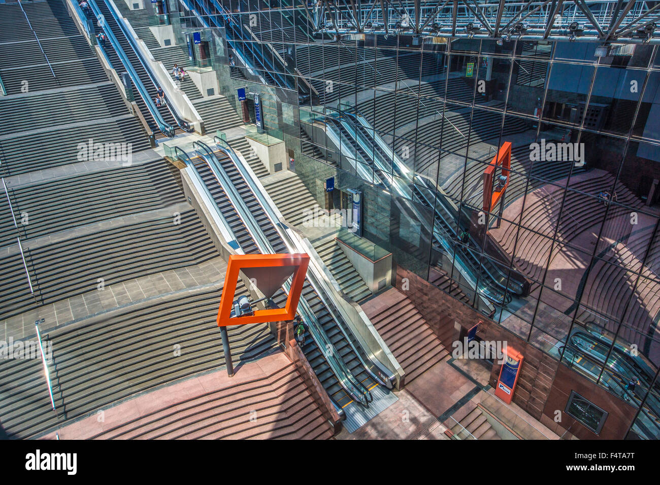 Japan, Kyoto City, Kyoto Railway Station, interior - Stock Image