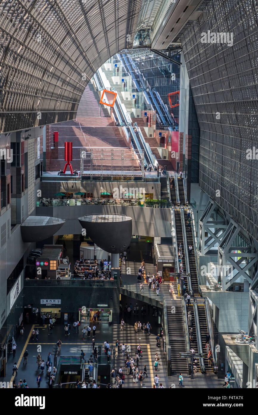 Japan, Kyoto City, Kyoto Railway Station, interior - Stock Image