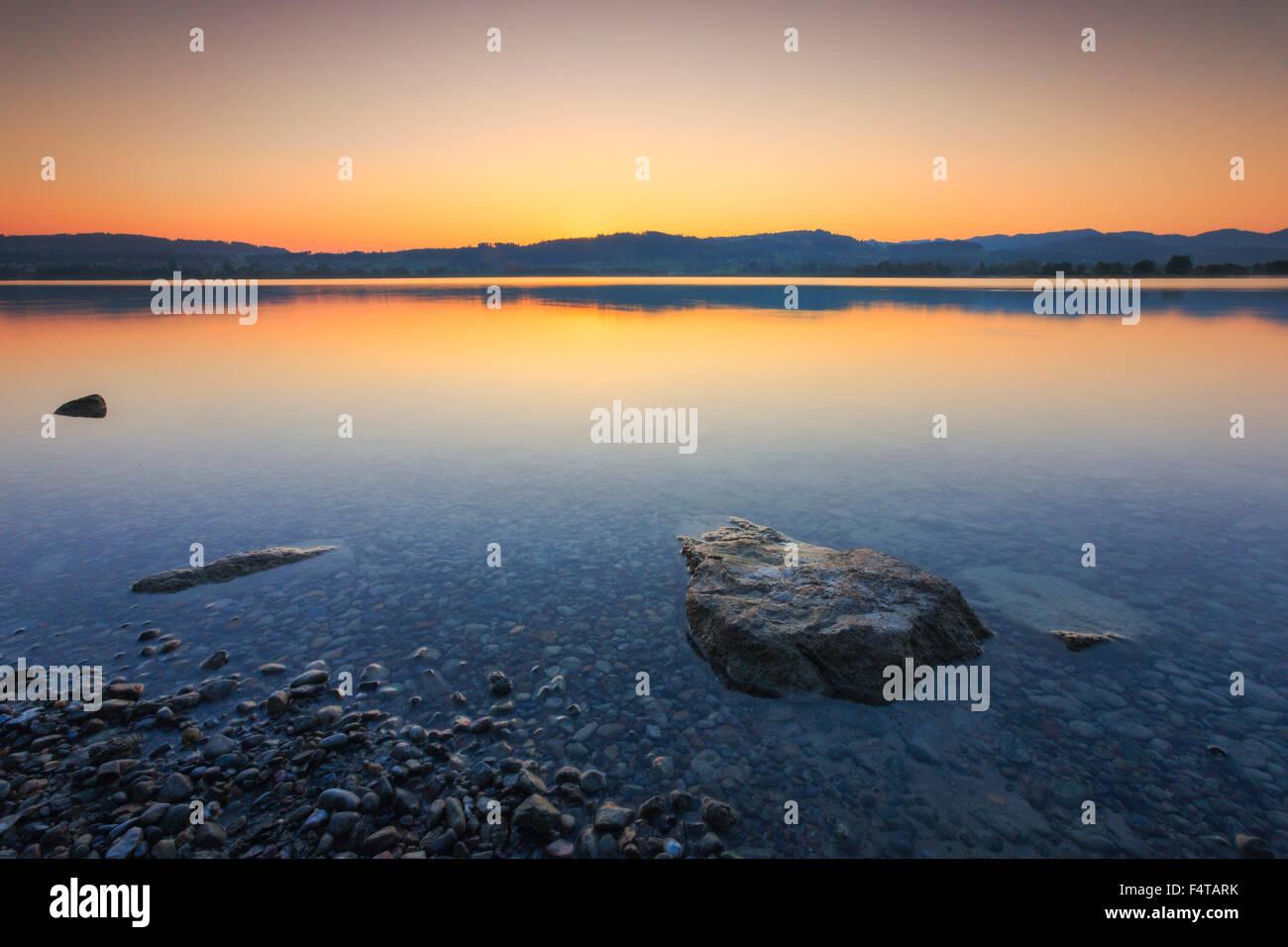 Pfäffikon lake, Zurich uplands, Switzerland - Stock Image